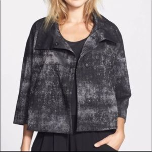 Eileen Fisher Grandeur Abstract Jacquard Jacket L